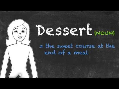 Desert vs Dessert - English Grammar - Teaching Tips