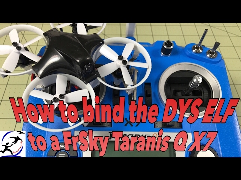 How to bind the DYS ELF with the FrSky Taranis Q X7 - UCzuKp01-3GrlkohHo664aoA