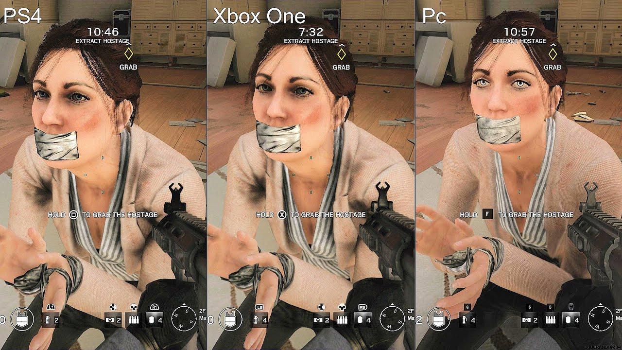 Rainbow Six Siege PS4 Vs Xbox One Pc Graphics Comparison
