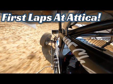Tanner Holmes First Laps Around Attica Raceway Park! (OHIO SPEEDWEEK) - dirt track racing video image