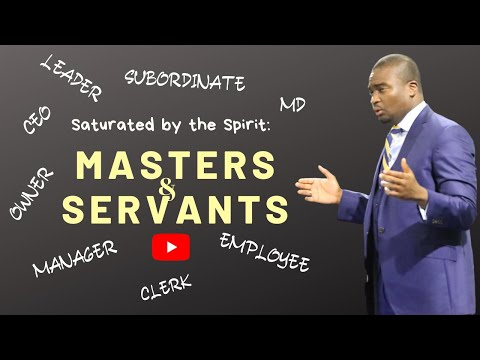 THE SCHOOL OF TYRANNUS  SATURATED BY THE SPIRIT: MASTERS AND SERVANTS  DAVID OYEDEPO JNR