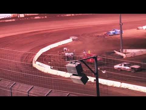 PERRIS AUTO SPEEDWAY FIGURE 8 TRAILER RACE MAIN EVENT 9-11-21 - dirt track racing video image