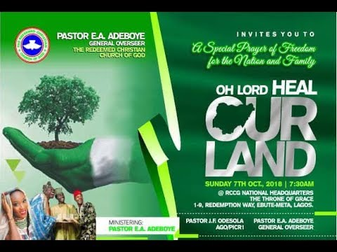 OCTOBER 2018 SPECIAL THANKSGIVING SERVICE -OH LORD HEAL OUR LAND