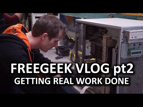 Trying to Get Some Actual Work Done: Free Geek Vlog Part 2 - UCXuqSBlHAE6Xw-yeJA0Tunw