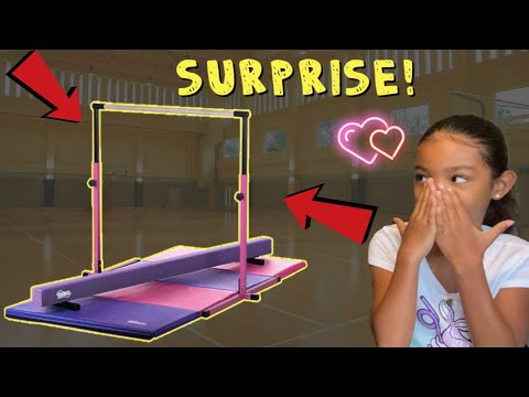 TIANA WAS CRYING AND WE SURPRISED HER WITH A GYMNASTIC SET!!!