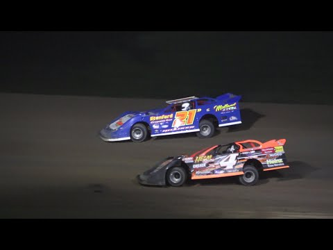 Late Model A-Feature at Crystal Motor Speedway, Michigan on 06-19-2021!! - dirt track racing video image