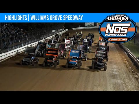 World of Outlaws NOS Energy Drink Sprint Cars Williams Grove Speedway, October 2, 2021 | HIGHLIGHTS - dirt track racing video image