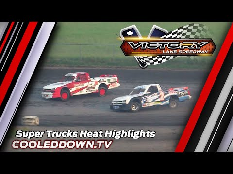 Super Trucks Heat Highlights, July 29th 2021 Victory Lane Speedway - dirt track racing video image