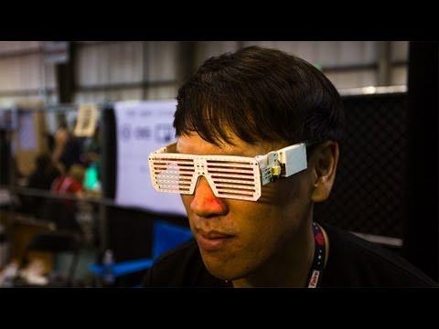Programmable LED Shades at Maker Faire 2013 - UCiDJtJKMICpb9B1qf7qjEOA