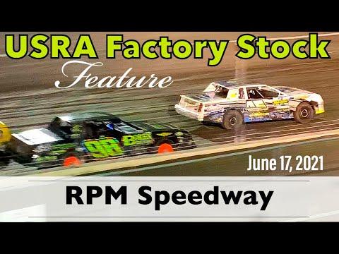 RPM Speedway - USRA Factory Stock Feature - Crandall, Texas - June 17, 2021 - dirt track racing video image