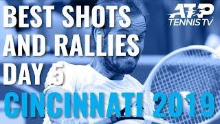 Best Shots And Rallies   Cincinnati 2019 Quarter-Finals