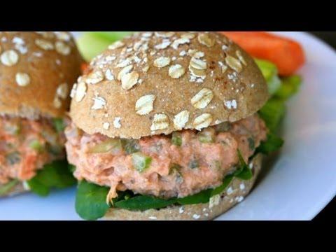 Salmon Salad Sandwich Recipe - Clean & Delicious® - UCj0V0aG4LcdHmdPJ7aTtSCQ