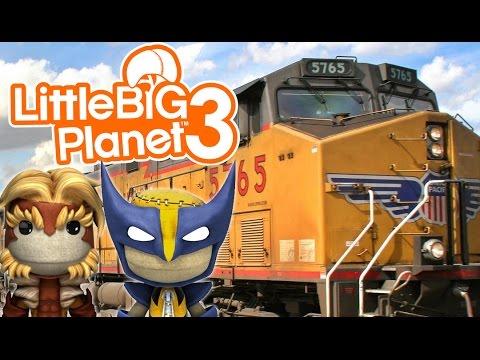 RUNAWAY TRAIN!   Little Big Planet 3 Multiplayer (48) - default